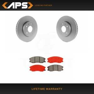 Front Semi Metallic Brake Pads /& Disc Rotors Fits Equinox Torrent Vue