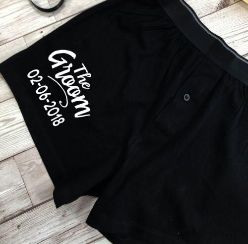 Groom Wedding Morning Boxer Shorts and Socks SetScriptPersonalised Gift