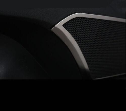 4x Stainless Steel Inner Door Speaker Cover DecoTrim  For TOYOTA CAMRY 2018-19 k
