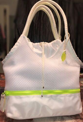 Details about  /NWT $168 TRINA TURK White Net Mesh Tennis Racquet Sports Bag Tote Handbag