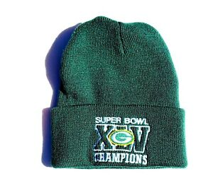 652850a8 Details about GREEN BAY PACKERS KNIT BEANIE HAT CUFFED SUPERBOWL CHAMPS NFL  LICENSED TOQUE CAP