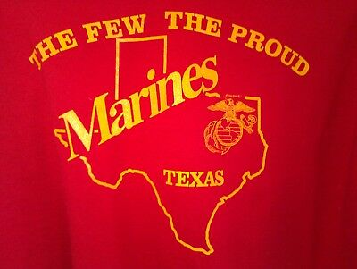 XL red T Shirt USMC Marines STATE OF TEXAS semper fi FEW PROUD hero DAD Military