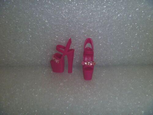 Jeweled Stiletto Heel Platform OOAK Bold Pink /& Pink Jewels Barbie Shoes