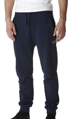 Asics Onitsuka Tiger Da Uomo Pantaloni Sportivi Blu Casual Moda Navy Pantaloni Della Tuta Palestra Pantaloni-mostra Il Titolo Originale Processi Di Tintura Meticolosi