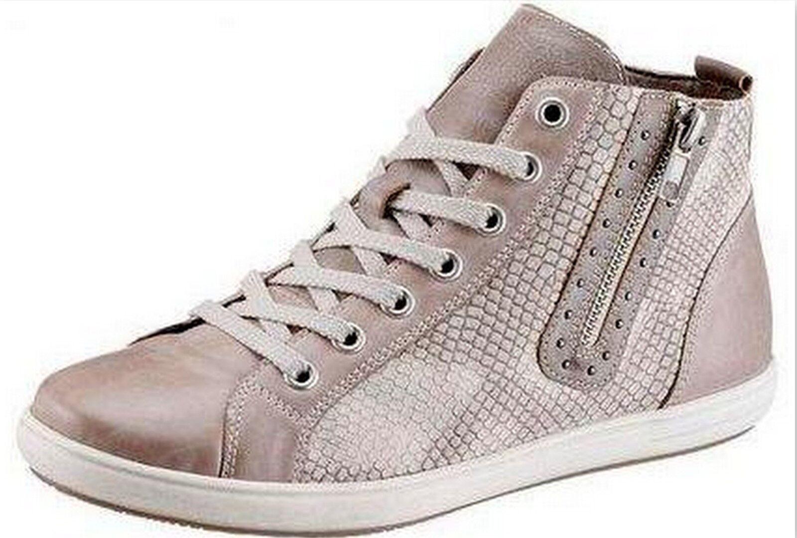 Nuevo Mujer SERPIENTES MArrón Botas De Cuero Zapatos Palomas USADO MArrón SERPIENTES Beis Talla d5d805