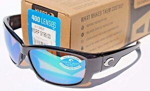 e6a4ac84c8b30 COSTA DEL MAR Luke POLARIZED Sunglasses Black Green Mirror 400G NEW ...