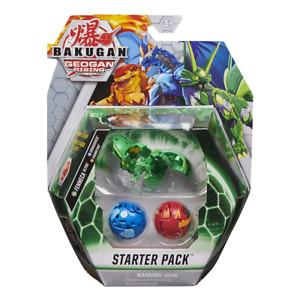 Bakugan Geogan Rising Starter Pack Fenneca Dragonoid & Sharktar NEW