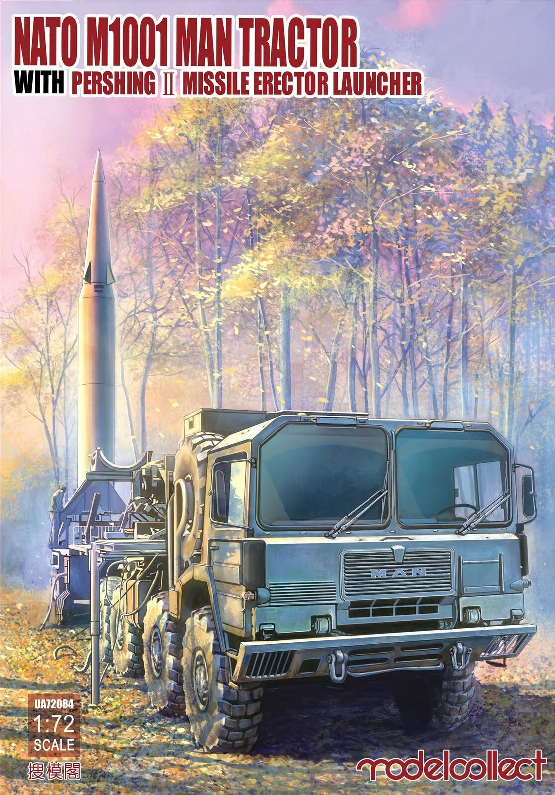 NATO M1001 MAN Tractor & Pershing II Missile Launcher - ModelCollect UA72084
