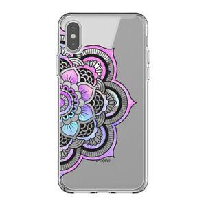 Coque Iphone XS MAX mandala 1 rose pastel