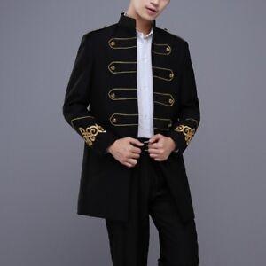Mens-Medieval-Retro-Long-Jacket-Renaissance-Costume-Mess-Dress-Uniform-Tops-Coat