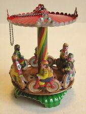 Carrusel ciclista de chapa para colgar, chapa juguetes