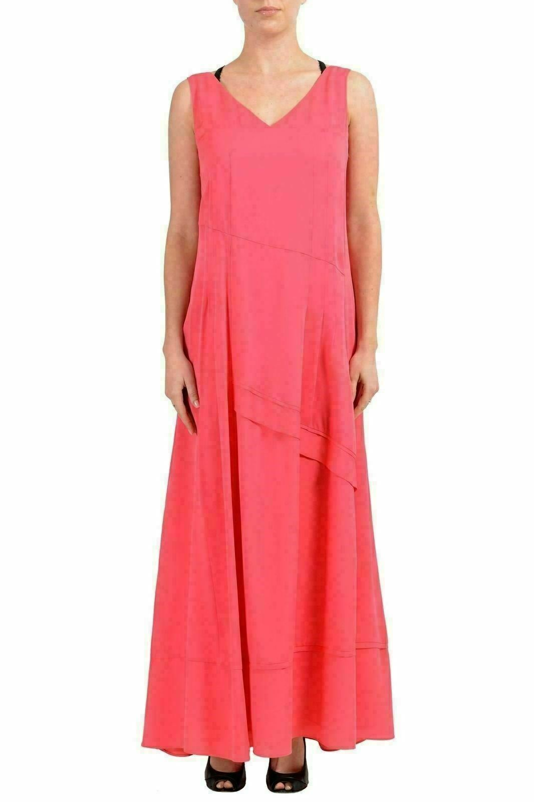 Hugo Boss  Daomara1  Woherren Silk Rosa Sleeveless Maxi Dress US 4 IT 40