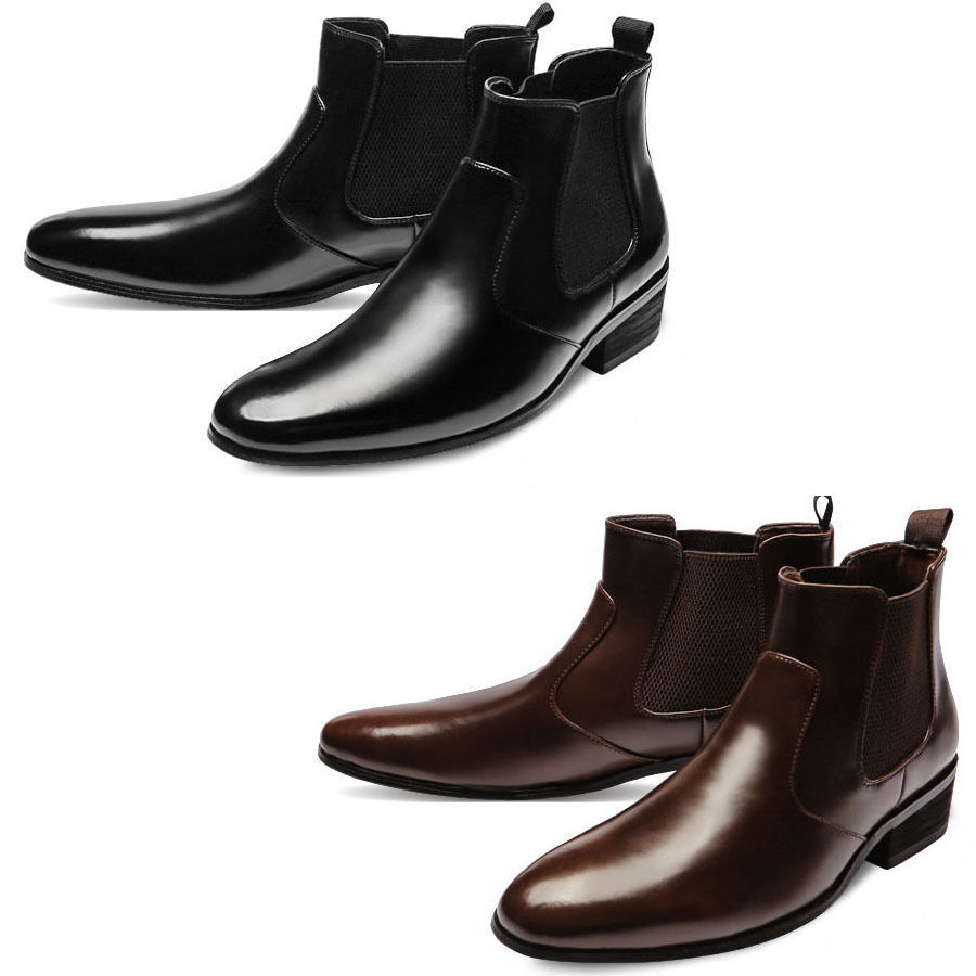 Mooda Mens Genuine Leather Chelsea Stiefel Formal Ankle Stiefel Dress schuhe MOOI