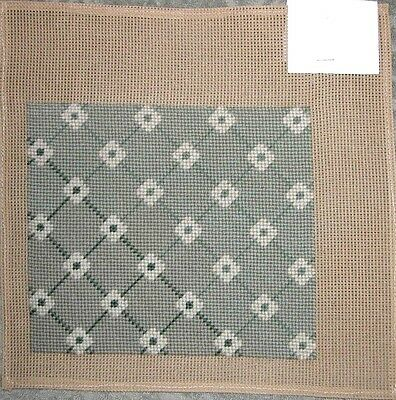 """EP 7.5""""x8.5"""" Sage Completed Needlepoint Piece for Doll House Rug or Small Pillow"""