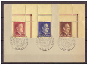Generalgouvernement-MiNr-89-91-Ecken-oberer-Rand-ESSt-20-04-1942