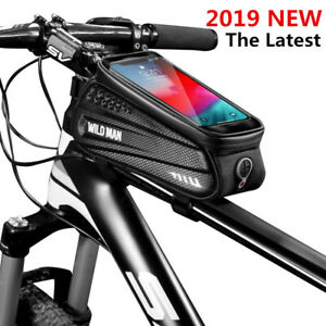 "Waterproof 6.2/"" Bike Front Frame Bag Touch Screen Phone Holder MTB Road Cycling"