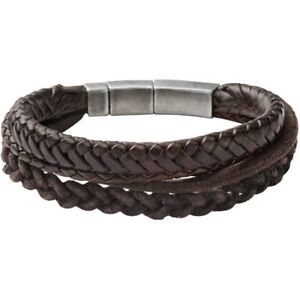 Bracelet Fossil Man Woman Jf85296040 Vintage Brown Leather