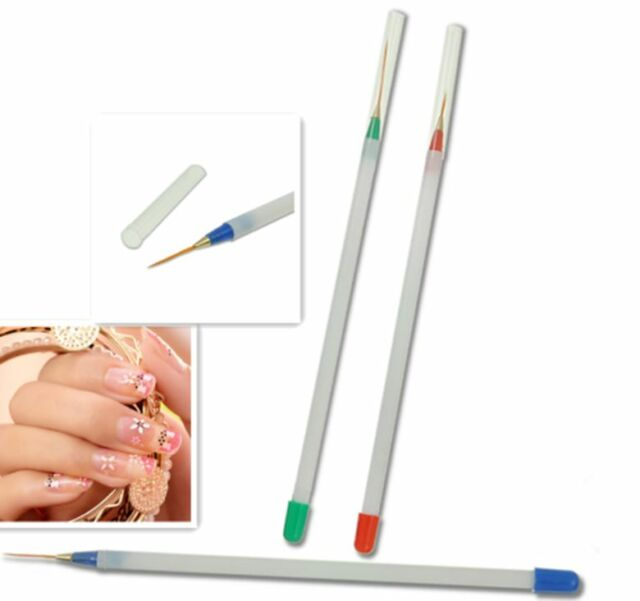 3pcs/set Nail Art DIY Acrylic Drawing Liquid Powder Painting UV Gel Pen Brush