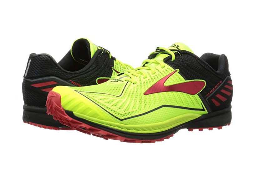 BROOKS Mazama Hombre Trail Running zapatos tenis vida nocturna Negro Alto Riesgo Rojo