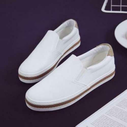 2018 New Womens Oxfords Flats Slip on Breathable Leather Casual Sneakers Shoes #