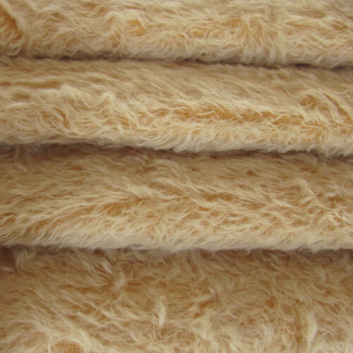 1/6 yd 325S/C Buttercup Dark Back INTERCAL 5/8 Semi-Sparse Curly German Mohair