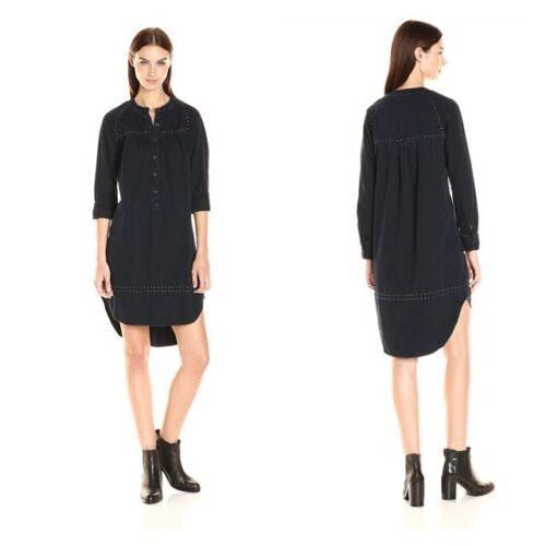 Lucky Brand Small Dress Black Studded Shift New