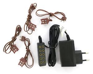 Trasformatore-3-5-Volt-5-uscite-luce-fissa-e-4-lanterne-per-presepe-Linea