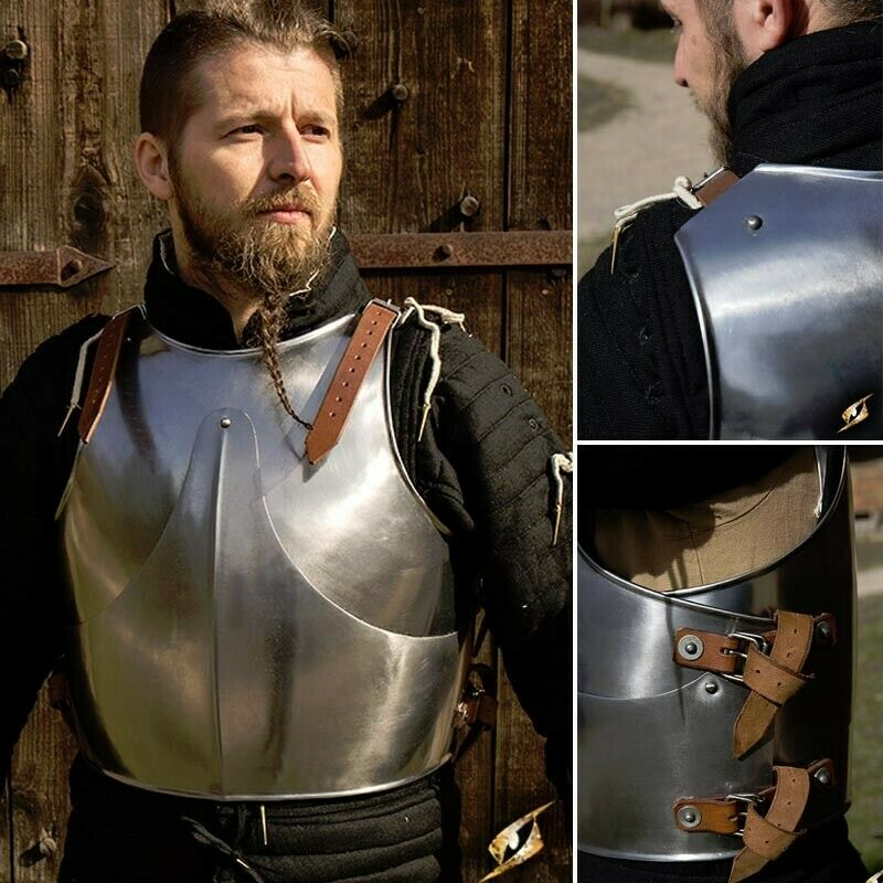 Polished Milanese Beveled Plate Cuirass Body Armour - Stage, Re-enactment & LARP