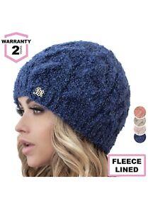 aa3695ef5 Details about Braxton Beanie for Women - Knit Winter Warm Fashion Fleece  Hat - Wool Snow Bo...