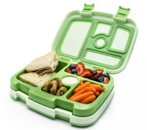 Bentgo Kids Childrens Lunch Box Bento-Styled Lunch Durable and Leak Proof Green