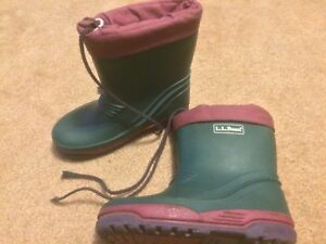 ee9538c527bcd Details about KIDS YOUTH LL BEAN DARK HUNTER GREEN WELLIES RUBBER RAIN  BOOTS SIZE 11