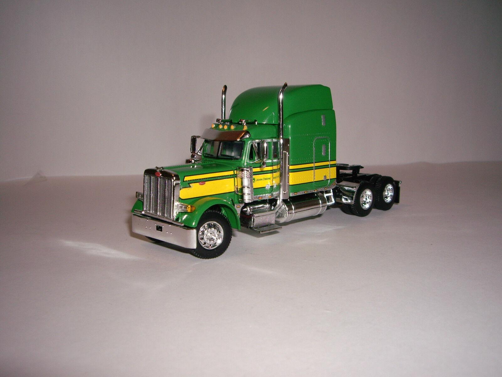 DCP First Gear 1 64 verde y amarillo John Deere 379 Peterbilt con T midroof durmiente