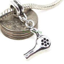 Hair Dryer Dangle Stylist Professional Large Hole Bead for Euro Charm Bracelet