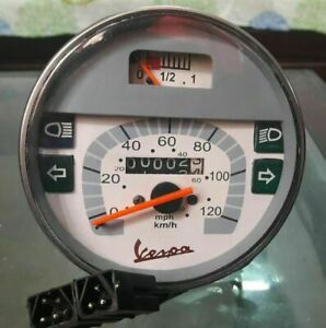 New-Speedometer-Tacho-Vespa-LML-PX-Lusso-80-125-150-200-120Kmh-80-MPH-GREY