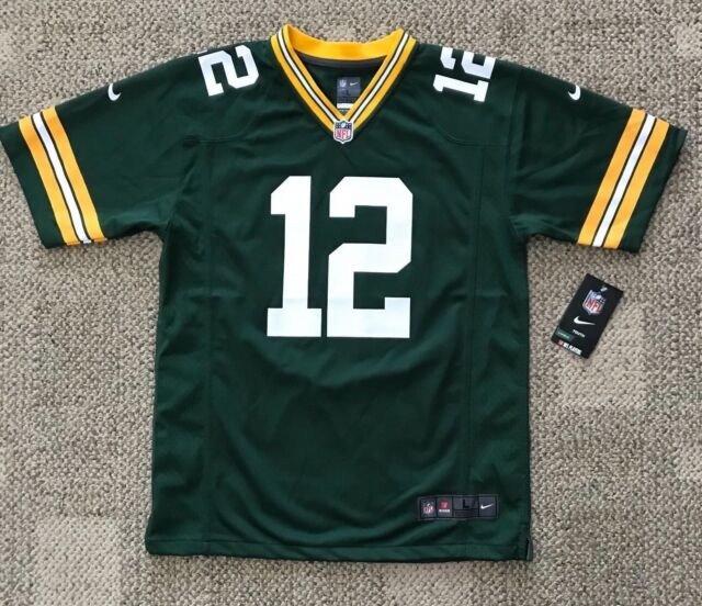 e325ab796 Youth Size XL 14 16 Nike Green Bay Packers  12 Aaron Rodgers Football Jersey
