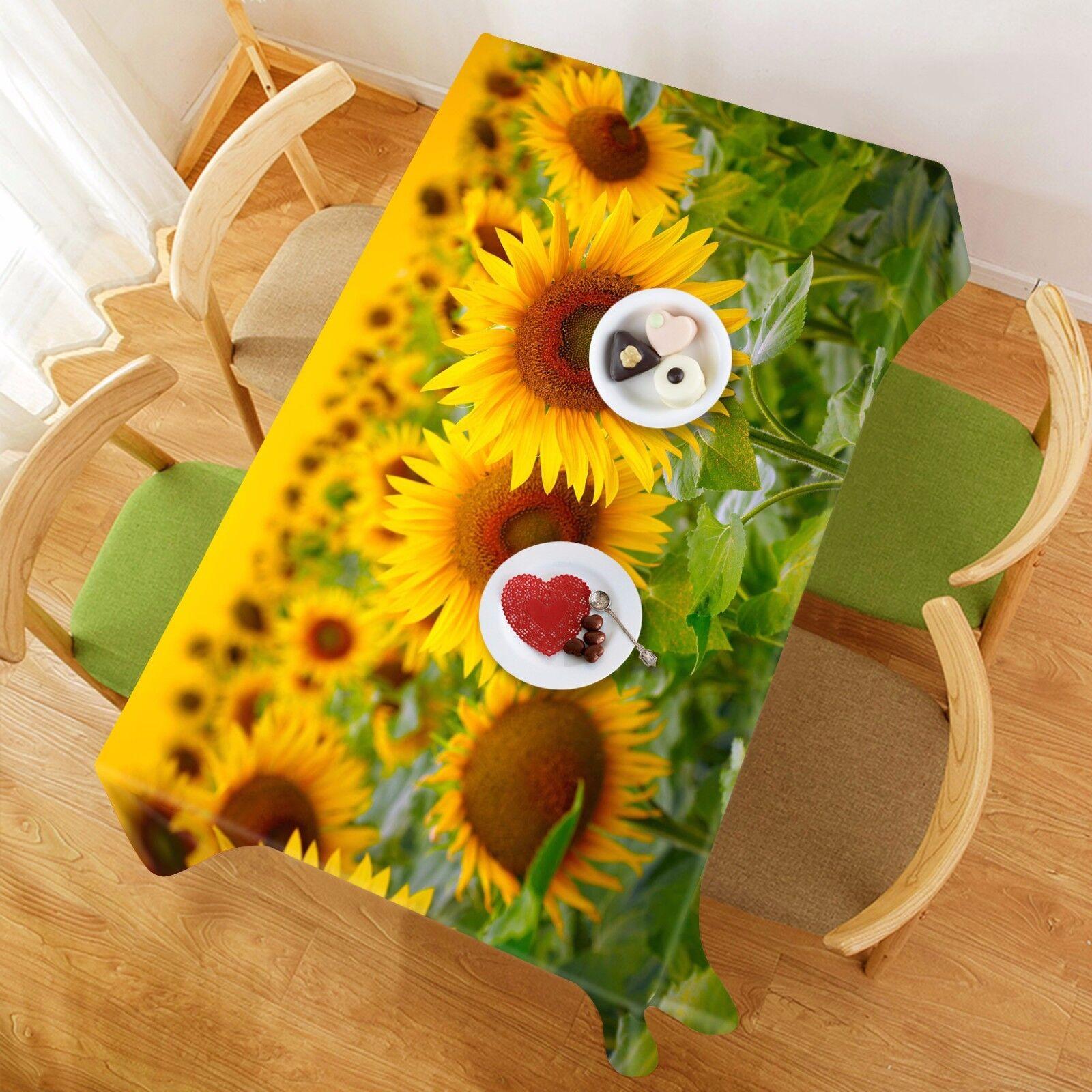 3D Sunflower Tablecloth Table Cover Cloth Birthday Party AJ WALLPAPER UK Lemon