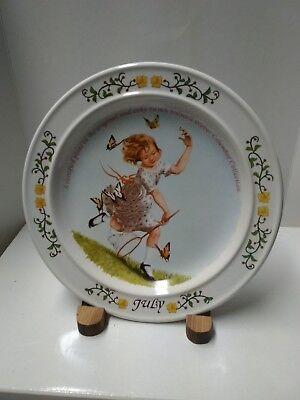 Limited edition Sarah S Stilwell Weber \u201cSpringtime Breezes\u201d limited edition collectors plate.