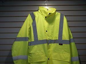 Class-3-Lime-Green-Economy-Safety-Rain-Coat-6001
