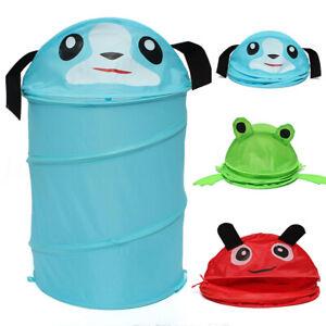 Childrens-Folding-Pop-Up-Animal-Laundry-Storage-Basket-Hamper-Bedroom-Bin-W8H