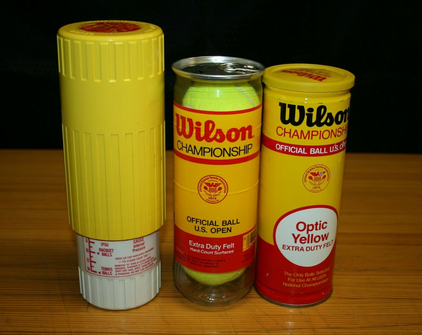 GEXCO TENNIS BALL SAVER + 2 CANS SLEEVES TUBES WILSON CHAMPIONSHIP TENNIS BALLS