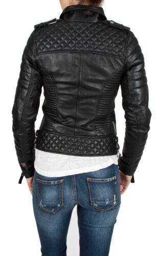 Rétro Classique En King Moto Souple Cuir Dames Biker Fashion Veste Leo Femmes 5Xwn8qzH