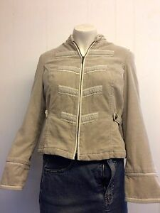 Gorgeous-Beige-Cord-Military-Style-Jacket-from-Principles-Size-10-Worn-Once
