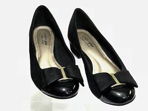 meet cute clearance sale Details about Comfort Plus by Predictions Women's Shoes Suede black pumps  heels Round Toe 8.5