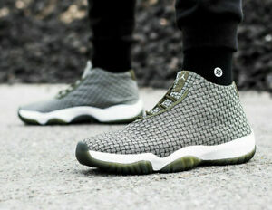 good service hot product reasonably priced Details about NIKE AIR JORDAN FUTURE Trainers Mid Casual Fashion - UK Size  8.5 (EUR 43) Olive