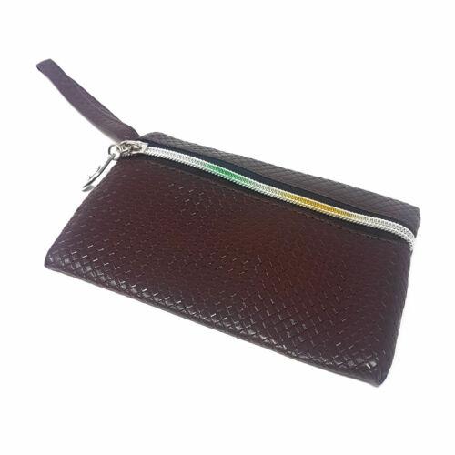 Le donne signore Zip Portamonete Lungo CARD CASE Pochette Borsetta telefono titolare ID in contanti