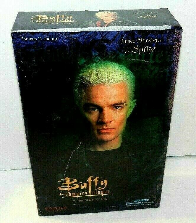 SIDESHOW SPIKE BUFFY THE VAMPIRE 12  TV FIGURE NEW SEALED JAMES MARSTERS