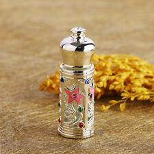 Vintage Mini Metal Empty Perfume Bottle Carved Designs Wedding Decor Gift 3ml