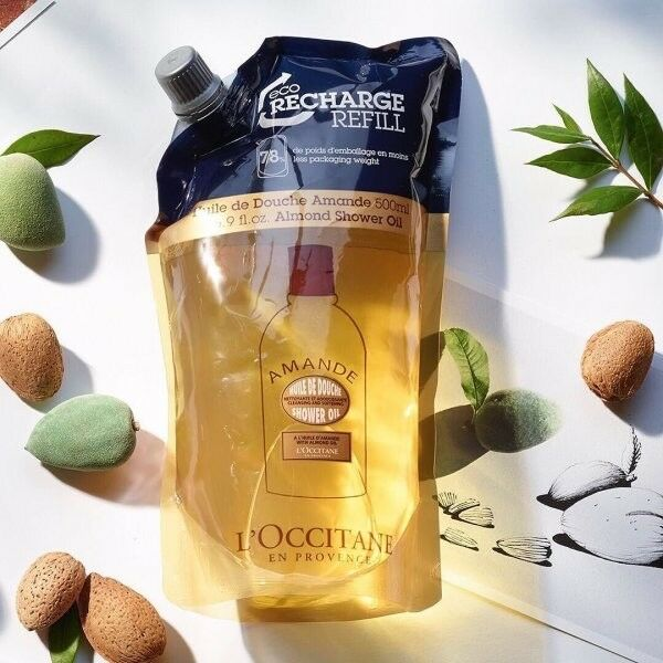 20%OFF L'Occitane Almond Shower Oil 500ml Eco-Refill Hydrate Nourish PerfumeSkin