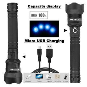 Adjustable-Powerful-Flashlight-USB-Torch-Hunting-Lamp-Hand-Light-29W-90000-lumen
