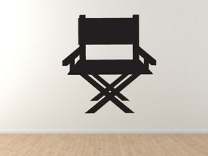 Cinema Home Theater Part 3 Director Chair Silhouette Vinyl Wall Decal Ebay
